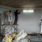 Plastering the interiors